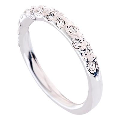 Karen Millen Swarovski Crystal Sprinkle Ring, Silver