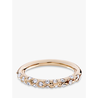 Karen Millen Swarovski Crystal Sprinkle Ring, Gold