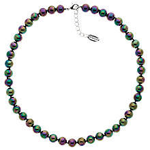 Buy Finesse Glass Pearl Necklace, Green/Purple Online at johnlewis.com