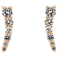 Buy Melissa Odabash Swarovski Mini Curve Drop Earrings Online at johnlewis.com
