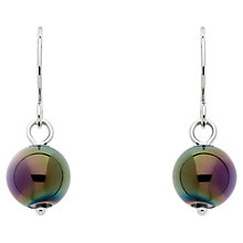 Buy Finesse Glass Pearl Drop Earrings, Green/Purple Online at johnlewis.com