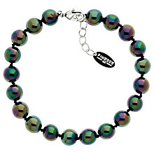 Buy Finesse Glass Pearl Bracelet, Green/Purple Online at johnlewis.com