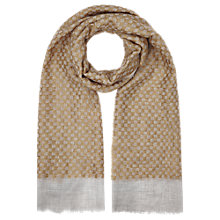 Buy Jigsaw Jacquard Scarf, Mustard Online at johnlewis.com