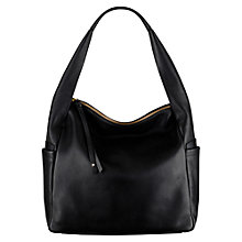 Buy Radley Brockley Leather Zip Top Grab Bag, Black Online at johnlewis.com