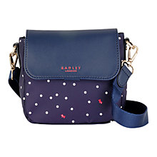 Buy Radley Cheshire Street Slim Across Body Bag, Navy Online at johnlewis.com