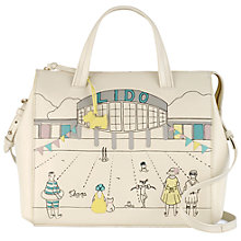 Buy Radley Collectibles Lido Leather Grab Bag, Ivory Online at johnlewis.com