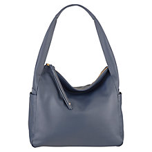 Buy Radley Brockley Leather Zip Top Grab Bag, Grey Online at johnlewis.com