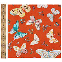 Buy Dena Designs Butterfly Print Fabric, Red Online at johnlewis.com