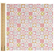 Buy Heart Check Print Fabric Online at johnlewis.com