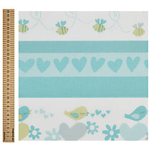 Buy Sweetheart Stripe Print Fabric Online at johnlewis.com
