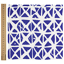 Buy John Lewis Habutai Silk Fashion Fabric, Blue/White Online at johnlewis.com