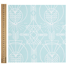 Buy Freespirit Native Aqua Print Fabric, Blue Online at johnlewis.com