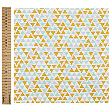 Buy Freespirit Triangles Maize Print Fabric, Multi Online at johnlewis.com