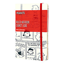Buy Moleskine Peanuts Limited Edition Lined Notebook, White Online at johnlewis.com