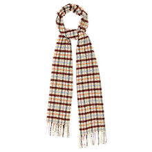 Buy Viyella Multi Check Lambswool Scarf, Neutral Online at johnlewis.com