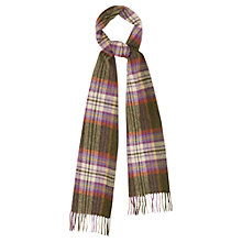 Buy Viyella Check Lambswool Scarf, Violet Online at johnlewis.com