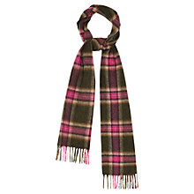 Buy Viyella Check Lambswool Scarf, Pink Online at johnlewis.com
