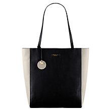 Buy Radley Longacre Large Leather Tote Bag, Black/White Online at johnlewis.com