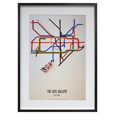 London Transport Museum – Tate Gallery By Tube Framed Print, 69 x 50cm