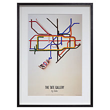 Buy London Transport Museum - Tate Gallery By Tube Framed Print, 69 x 50cm Online at johnlewis.com