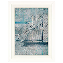 Buy Aimee Wilson - Blue Sails 1 Framed Digital Print with Mount, 41.5 x 31.5cm Online at johnlewis.com