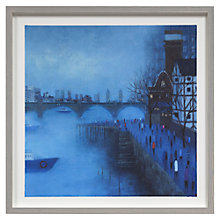 Buy Emma Brownjohn - Bridges in the Mist Framed Print, 50 x 50cm Online at johnlewis.com
