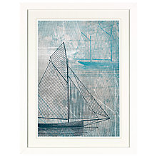 Buy Aimee Wilson - Blue Sails 2 Framed Print with Mount, 41.5 x 31.5cm Online at johnlewis.com