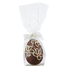 Buy The Cocoabean Company Milk Chocolate Floral Decorated Easter Egg Online at johnlewis.com