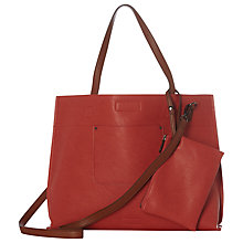 Buy White Stuff Christie Reversible Tote Bag, Coral/Multi Online at johnlewis.com