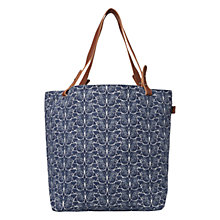 Buy White Stuff Butterfly Canvas Tote Bag, Bejing Blue Online at johnlewis.com