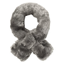 Buy White Stuff Faux Fur Slot Scarf, Grey Online at johnlewis.com
