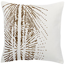 Buy west elm Beaded Galaxy Burst Cushion, Pearl / Gold Online at johnlewis.com