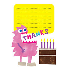 Buy Nella Little Monster Thank You Cards, Pink Online at johnlewis.com