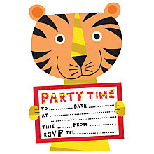 Buy Nella Tiger Party Invites Online at johnlewis.com