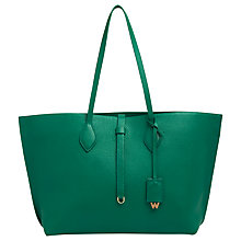 Buy Whistles Regent Soft Tote Bag, Green Online at johnlewis.com