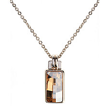 Buy Karen Millen Luxe Oblong Baguette Swarovski Crystal Pendant Necklace, Gold Online at johnlewis.com