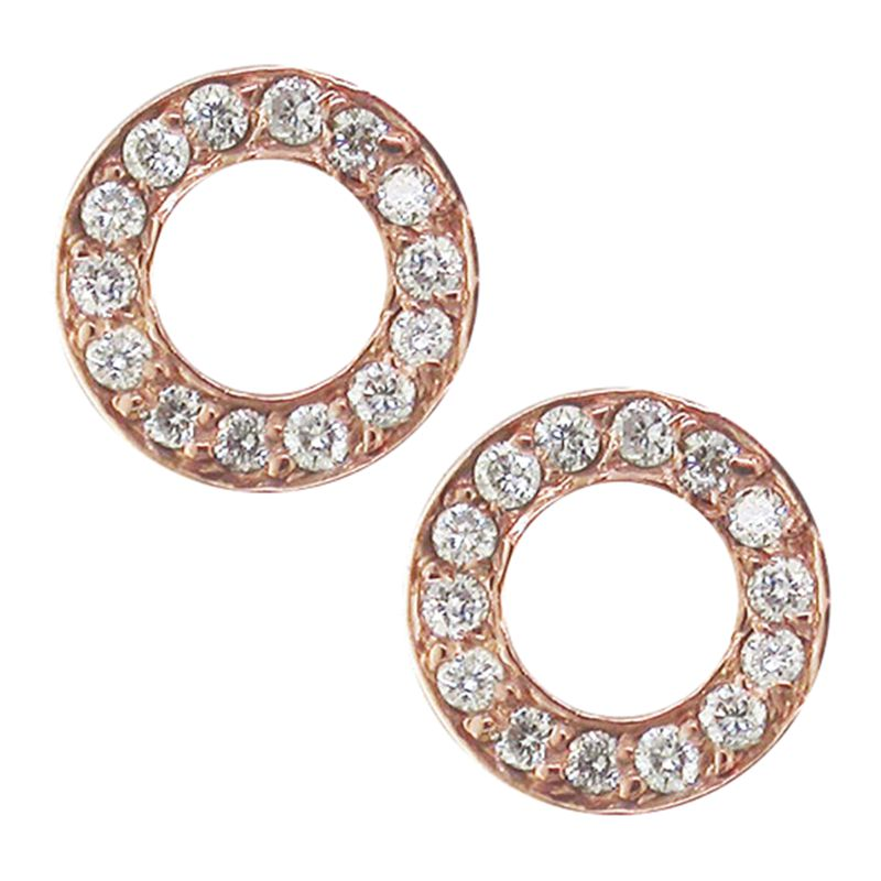 London Road London Road Meridian 9ct Gold Diamond Circle Stud Earrings