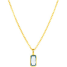 Buy Auren 18ct Gold Plated Sterling Silver Baguette Topaz Pendant Necklace, Gold/Blue Online at johnlewis.com
