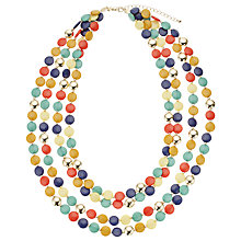 Buy John Lewis Flat Bead Layered Necklace, Multi Online at johnlewis.com