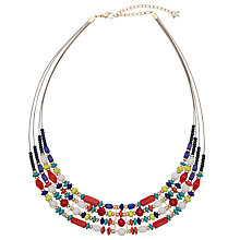 Buy John Lewis Illusion Beads Necklace, Multi Online at johnlewis.com