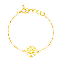 Buy Auren 18ct Gold Plated Sterling Silver Dreamcatcher Bracelet, Gold Online at johnlewis.com