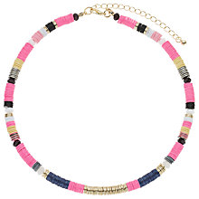 Buy John Lewis Stripe Disc Necklace, Neon/Multi Online at johnlewis.com