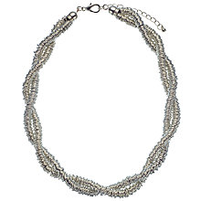 Buy John Lewis Twisted Rings Necklace, Silver Online at johnlewis.com