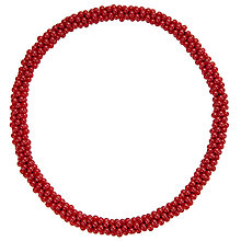 Buy John Lewis Stretch Bead Necklace, Cherry Online at johnlewis.com