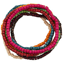 Buy John Lewis Wooden Stretch Pack Bracelet, Multi Online at johnlewis.com
