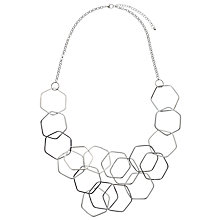 Buy John Lewis Hexagonal Long Necklace, Silver Online at johnlewis.com