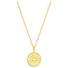 Buy Auren 18ct Gold Plated Sterling Silver Dreamcatcher Pendant Necklace, Gold Online at johnlewis.com