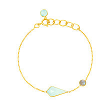 Buy Auren 18ct Gold Plated Sterling Silver Semi-Precious Stone Bracelet, Gold/Multi Online at johnlewis.com