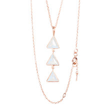 Buy Auren 18ct Rose Gold Plated Sterling Silver Moonstone Triangle Pendant Necklace, Rose Gold Online at johnlewis.com