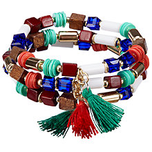 Buy John Lewis Bead and Tassel Stretch Pack Bracelet, Multi Online at johnlewis.com